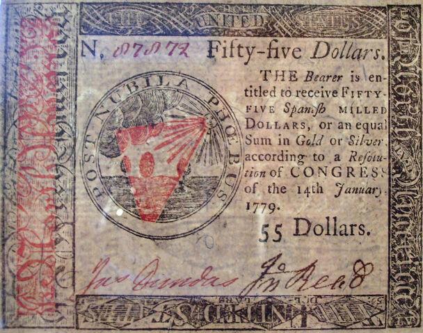 File:Benjamin Franklin nature printed 55 dollar front 1779.jpg