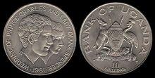 Uganda 10 shillings 1981 RW