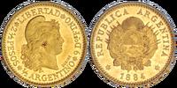 Argentine ½ argentino coin