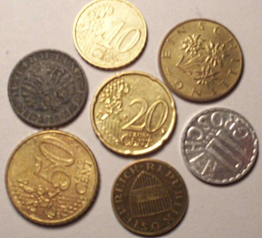 File:Euro and schilling coins.JPG