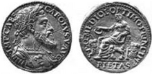 Charles V Milan testone Pietas