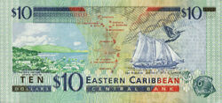 10 EC dollar banknote reverse