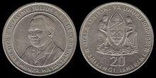 Tanzania 20 shillings 1981