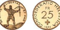 Swiss 25 franc coin