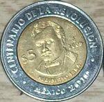 Heriberto Jara 5 peso coin 2008