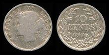 Liberia 10 cents 1906