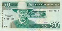 Namibian 50 dollar banknote