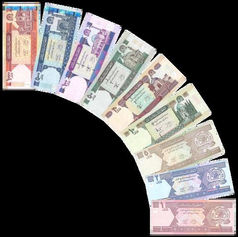 File:Afghan afghani notes.png
