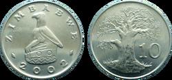 Zimbabwe 10 cents