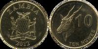 Zambian 10 ngwee coin