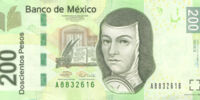 Mexican 200 peso banknote