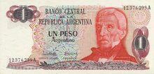 Argentina 1 peso 1983 obv