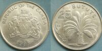 Gambian 25 butut coin