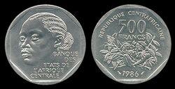 CAR 500 francs 1986