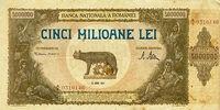 Romanian 5,000,000 leu banknote