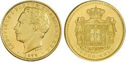 Portugal 10000 reis 1879