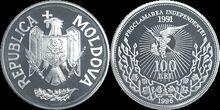 Moldova 100 lei independence 1996