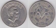 Zambia 20 ngwee 1981 WFD