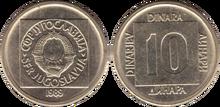 Yugoslavia 10 dinara 1989