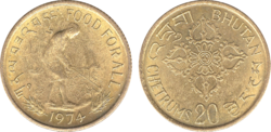Bhutan 20 chetrums 1974