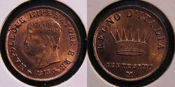 Kingdom of Italy centesimo 1813M