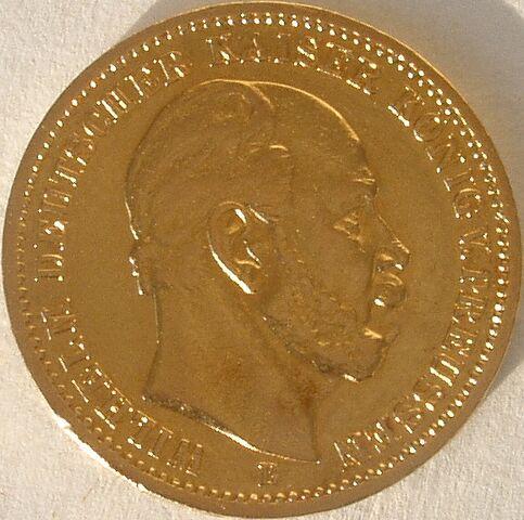 File:20 M Gold Kaiser Wilhelm I. von Preussen B 76.jpg