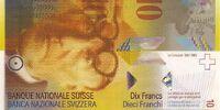 Swiss 10 franc banknote