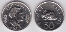 Tanzania 50 senti 1989