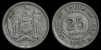 North Borneo 25 cent coin