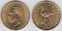 Tanzanian 20 senti coin
