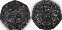 Uganda 10 shillings 1987