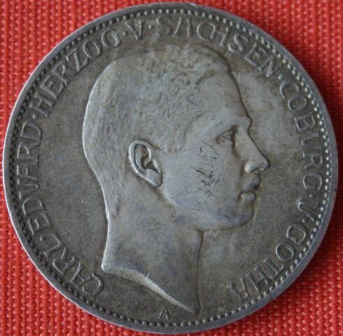 File:1907 Sachsen Coburg-Gotha Carl Eduard 5 Mk.JPG