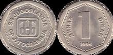 Yugoslavia 1 dinar 1993