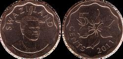 Swaziland 5 cents 2011