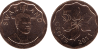 Swazi 5 cent coin