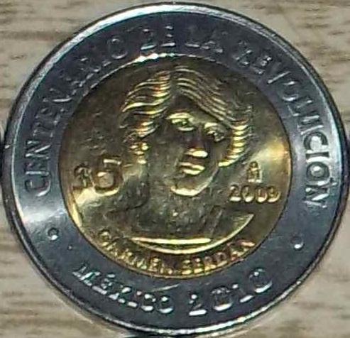 File:Carmen Serdan 5 peso coin 2009.jpg