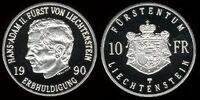 Liechtenstein 10 frank coin