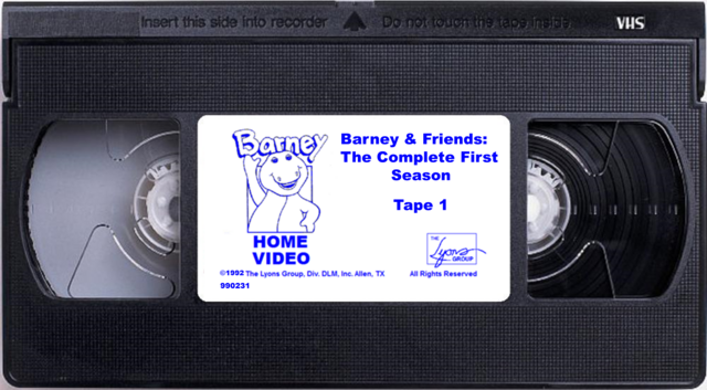 File:Barney & Friends The Complete First Season Tape 1.png