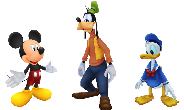File:Mickey, Goofy & Donald KH style.png