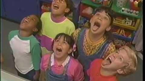 video barney the backyard gang barney goes to school 1990