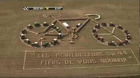 Tour De France - Stage 3 - 2011 - Local Farmers make a bike out of hay-bales