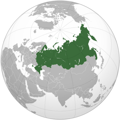 Russian Federation 2014 (orthographic projection) with Crimea