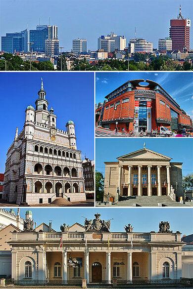 Collage of views of Poznań, Poland