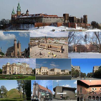 Kolaż Krakowa