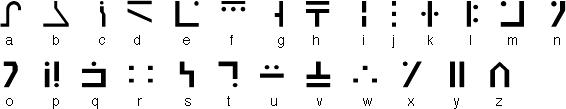 Galactic Alphabet