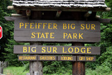 Pfeiffer Big Sur State Park Campground PCH-1 Sign-02LG