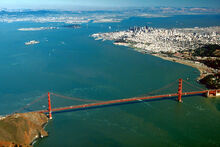 San Francisco Bay aerial view