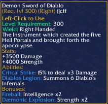 Demon Sword of Diablo
