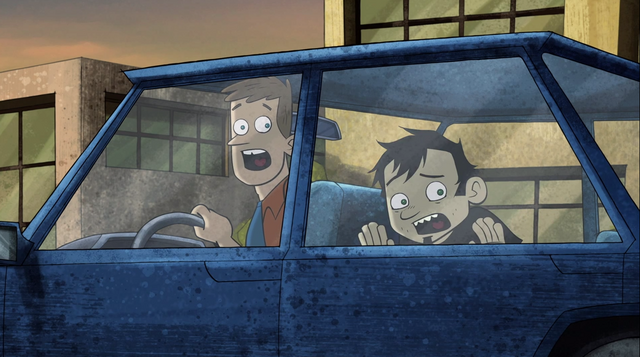 File:Dan and Chris watch in horror as Elise attacks an innocent man - The Telemarketer.png