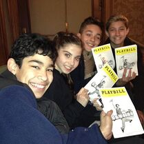 Nick Daniels-Instagram-Brandon Talbott-Zack Torres-seeing Newsies